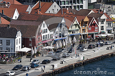 Stavenger waterfront Editorial Stock Image