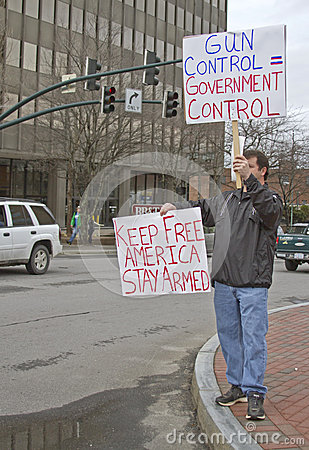 Stay Armed, Gun Control Protester Editorial Photography