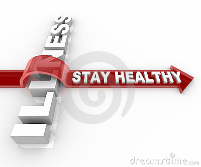 Stay Healthy - Words Jumping Over Illness