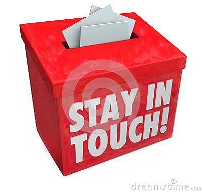Free Stay In Touch Box Letters Messages Notes Communication Royalty Free Stock Photos - 43499168