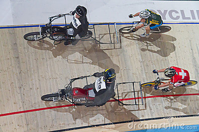 Stayer race with motorbike Editorial Stock Photo