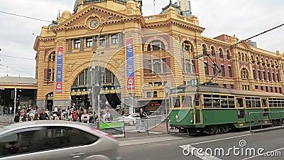 Stazione della via del Flinders di Melbourne archivi video