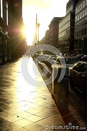 Städtische Szene