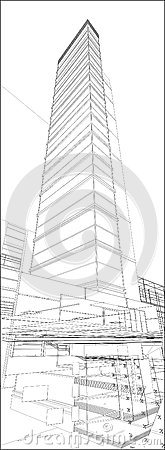 Städtischer Wolkenkratzer-Vektor 171