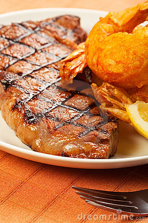 Free Steak And Shrimp Stock Photography - 18771812