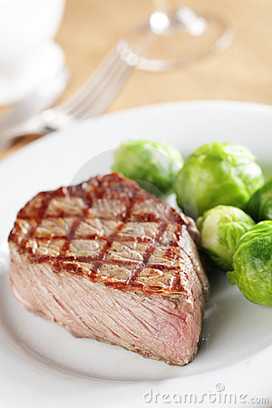 Steak with Brussels sprout