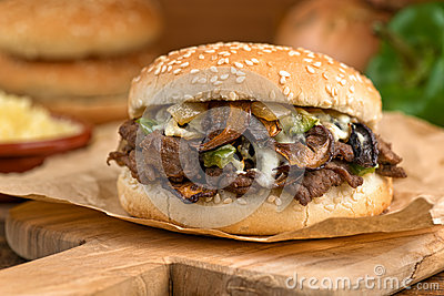 Steak And Cheese Mushroom Melt Royalty Free Stock Images - Image ...