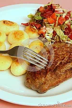 Free Steak Dinner Stock Image - 7320871
