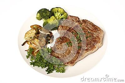 Steak dinner with sides