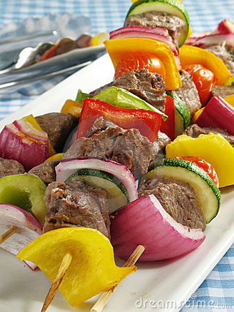 Free Steak Kebabs Stock Photography - 5710742