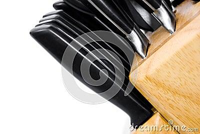 Steak knives in block
