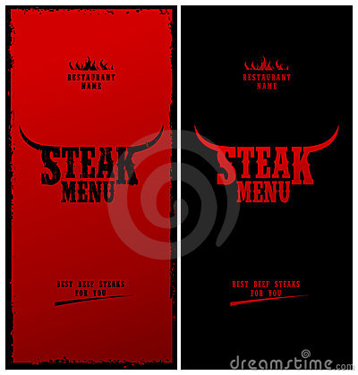 Steak menu.
