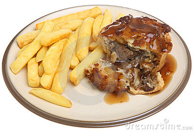 Steak Pie with Chips