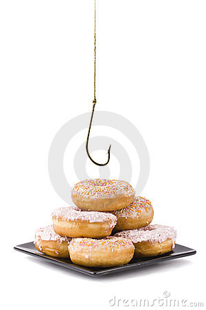 Free Stealing A Doughnut Stock Images - 18679634