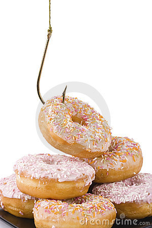 Free Stealing A Doughnut Royalty Free Stock Image - 18680066