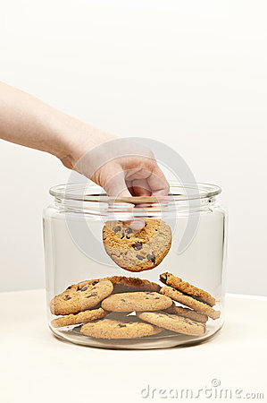 Free Stealing Cookies From The Cookie Jar Stock Image - 30611511