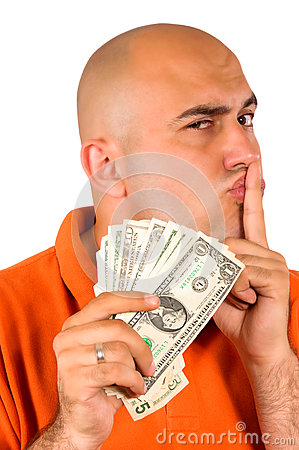 Stealing geld