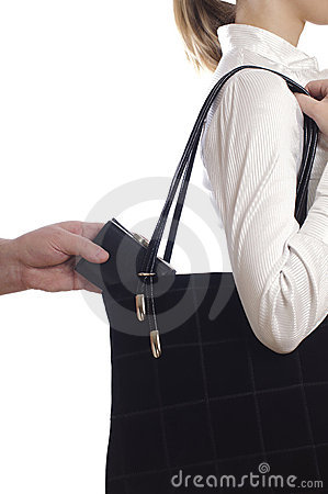 Free Stealing Purse From The Bag Stock Photo - 18711550