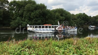 Steam boat on River Thames, Richmond Upon Thames, Surrey, England