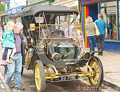 Steam car. Editorial Photography