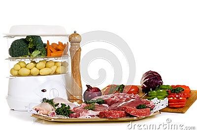 Steam cooker, steak