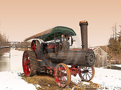 Steam engine rural scene