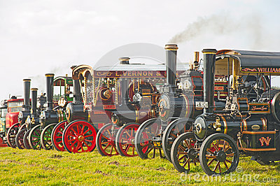 Steam engines and lorries  ! Editorial Image