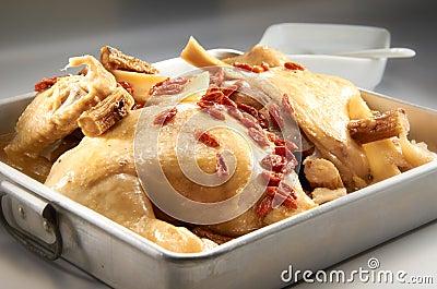 Steam Herbal Chicken