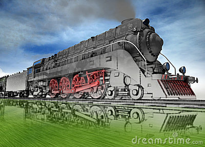 Steam locomotive.