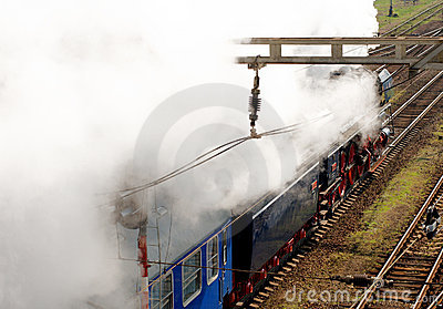 Steam locomotive  Albatros in motion Editorial Photo