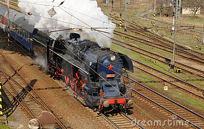 Steam locomotive  Albatros in motion Editorial Photography