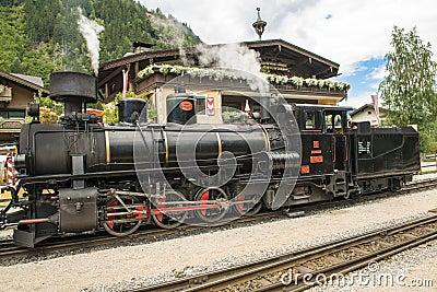 Steam engine in Austria - Zillertal-Bahn Editorial Image