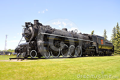 Steam Locomotive Canadian National Editorial Stock Photo