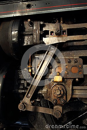 Free Steam Locomotive Engineering Detail Royalty Free Stock Photo - 29010605