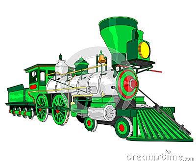 Steam locomotive illustration