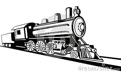 Steam locomotive stencil style