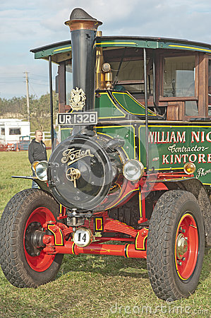 Steam lorry at Roseisle vintage rally Editorial Stock Image