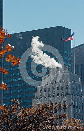 Steam From Modern Building  Free Public Domain Cc0 Image