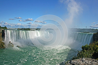 Steam over Niagara Falls