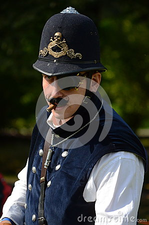 Steam Punk Cop Editorial Stock Photo