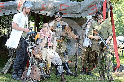 Steam Punk gang Editorial Stock Photo