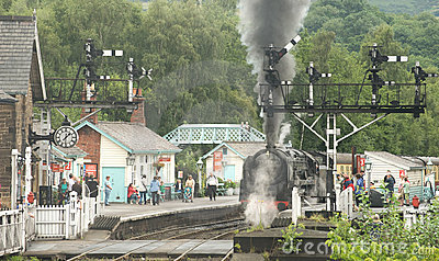 The Steam Railway at Grosmont. Editorial Photo