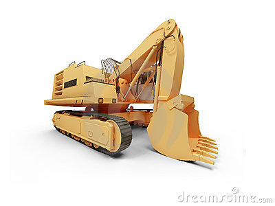 Steam shovel bulldozer