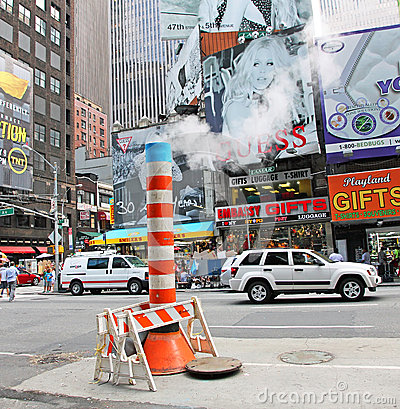 A Steam System in NYC Editorial Image