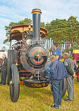Steam Traction Engine at Roseisle vintage rally Editorial Image