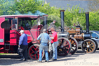 Steam traction engines/ Editorial Photography