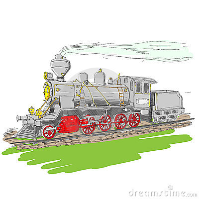 Steam train.