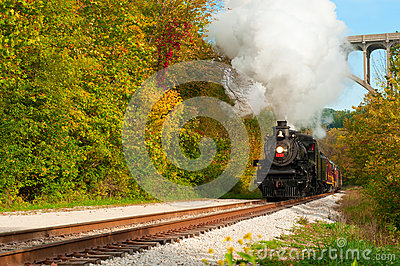 Steam train approaching Editorial Photography