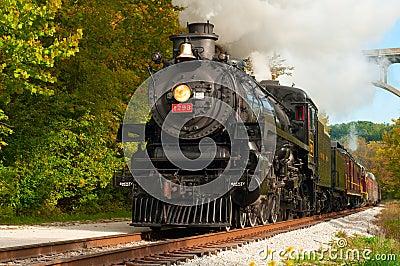 Steam train close Editorial Image