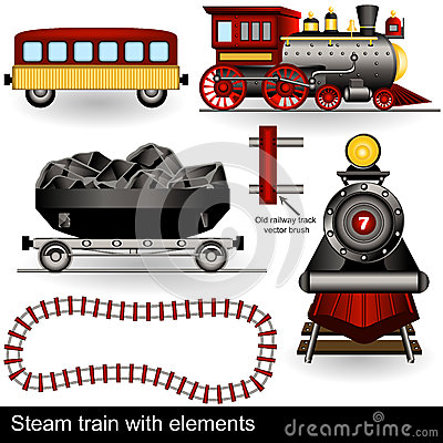 Steam train with elements